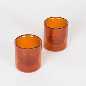 Double-Wall 6oz Glasses Set of 2 - Amber