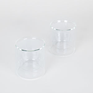 Double-Wall 6oz Glasses Set of 2 - Clear