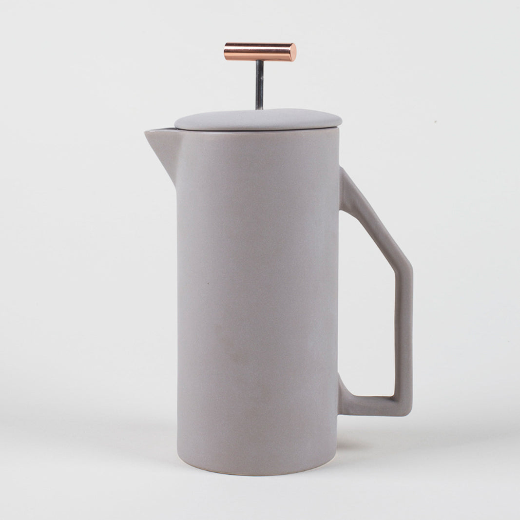 850 mL Ceramic French Press - Matt Grey