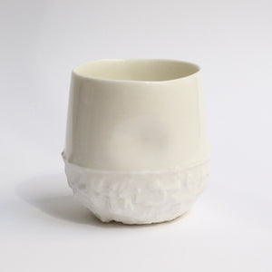 Milly Dent Tumbler - White Textured