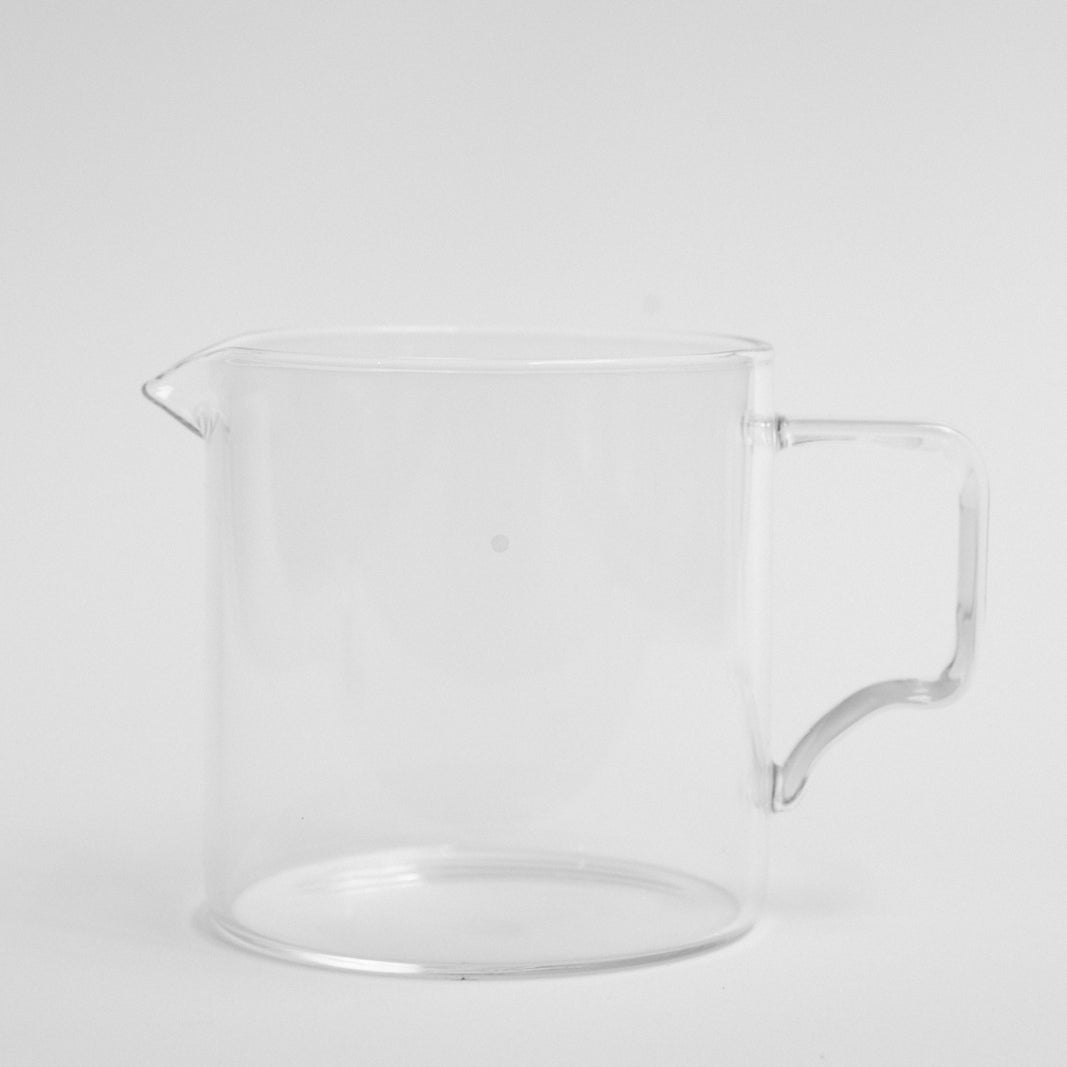 Kinto Glass Jug 300ML with Skittle Lane Logo in White