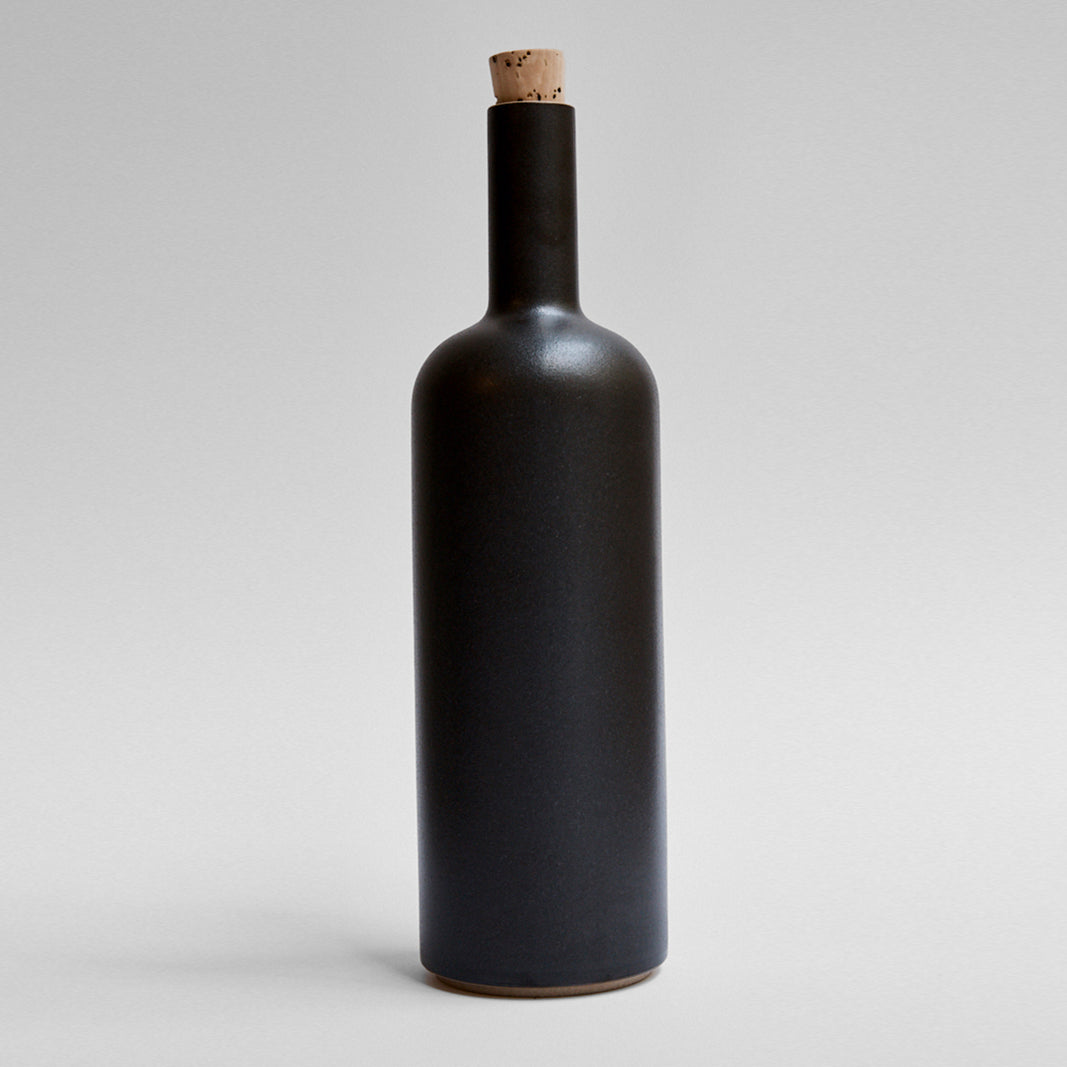 Hasami Tall Bottle Black Glaze