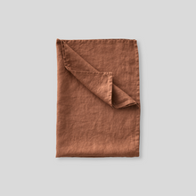 Load image into Gallery viewer, InBed Linen Teatowel Toffee