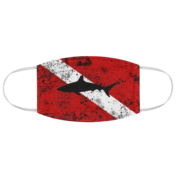 Diver Flag With Shark - Face Mask