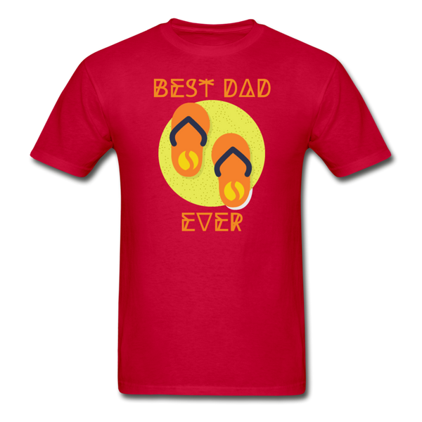 Best Dad Ever - Men's T-Shirt - red