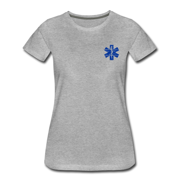 Paramedic American Flag - Women's Premium T-Shirt - heather gray