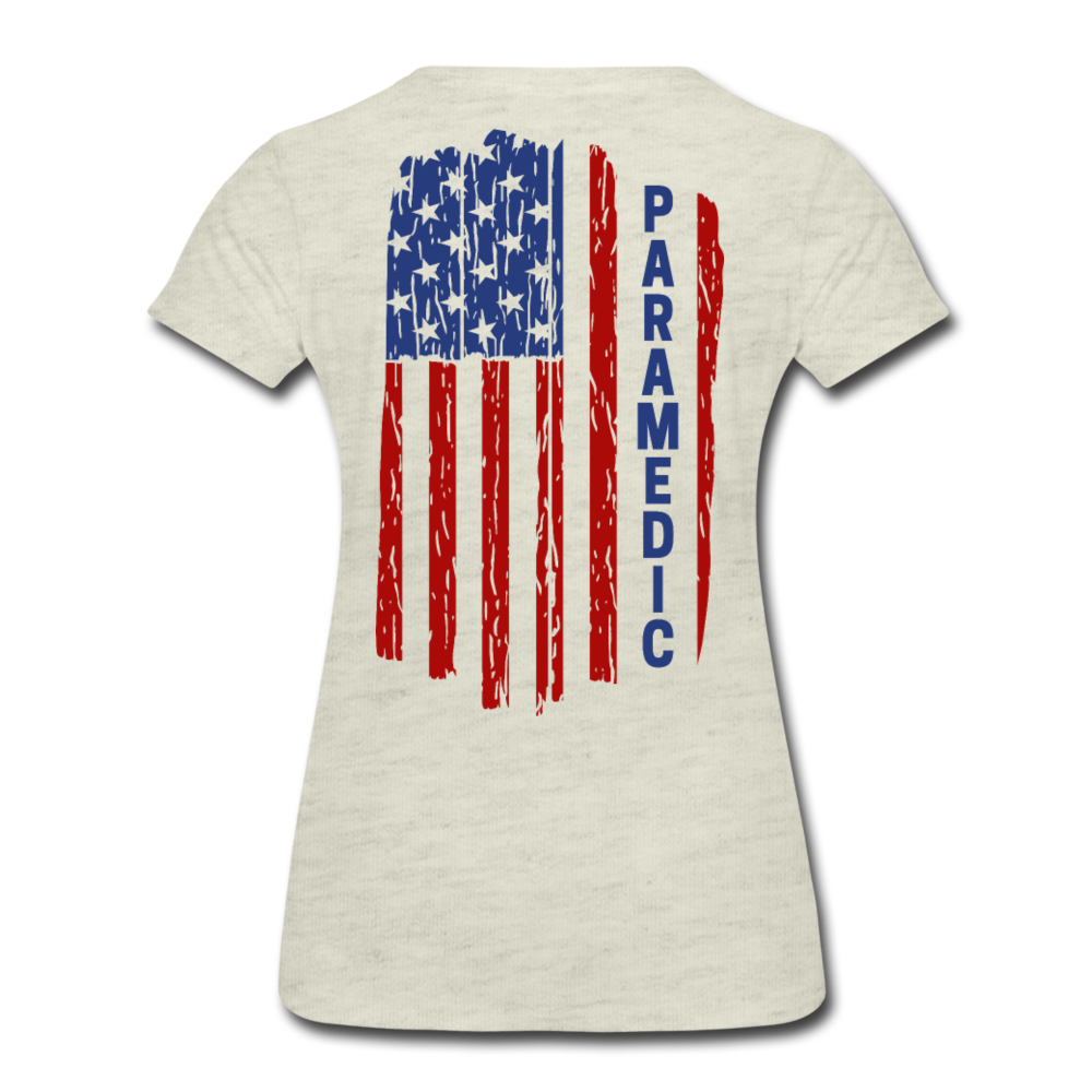 Paramedic American Flag - Women's Premium T-Shirt - heather oatmeal