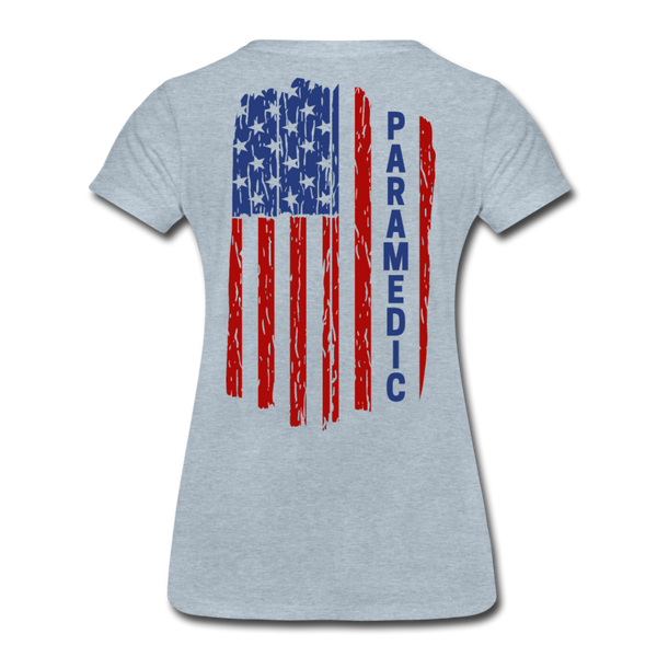 Paramedic American Flag - Women's Premium T-Shirt - heather ice blue