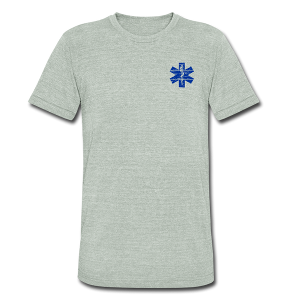 EMT American Flag - Tri-Blend T-Shirt - heather gray