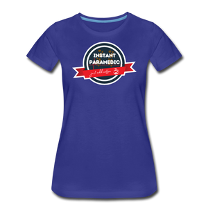 Paramedic, Just Add Coffee - Women's Premium T-Shirt - royal blue