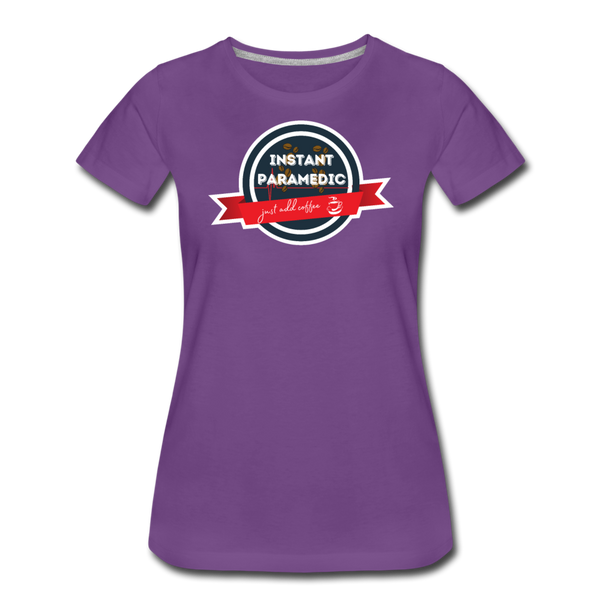 Paramedic, Just Add Coffee - Women's Premium T-Shirt - purple
