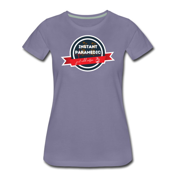 Paramedic, Just Add Coffee - Women's Premium T-Shirt - washed violet