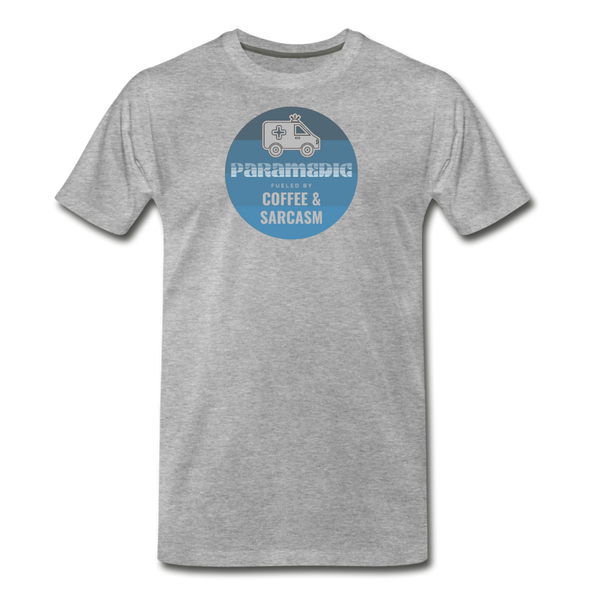 Paramedic, Coffee and Sarcasm - Men's Premium T-Shirt - heather gray