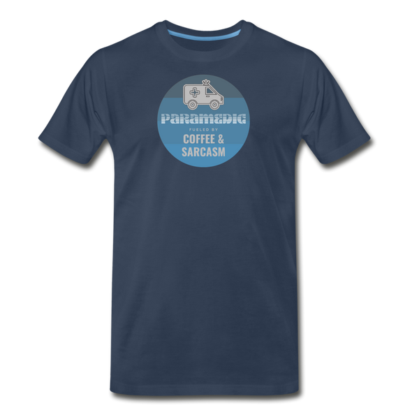 Paramedic, Coffee and Sarcasm - Men's Premium T-Shirt - navy