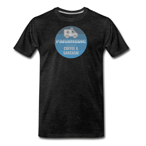 Paramedic, Coffee and Sarcasm - Men's Premium T-Shirt - charcoal gray