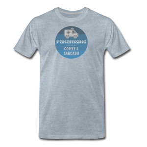 Paramedic, Coffee and Sarcasm - Men's Premium T-Shirt - heather ice blue