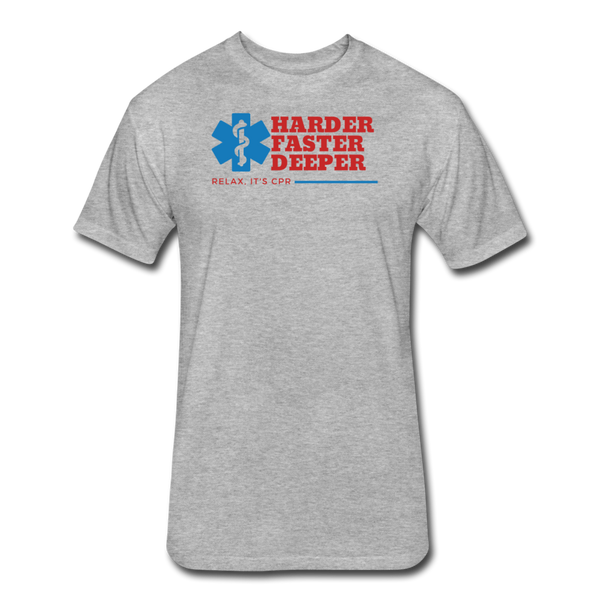Harder Faster Deeper EMS - Cotton/Poly T-Shirtl - heather gray