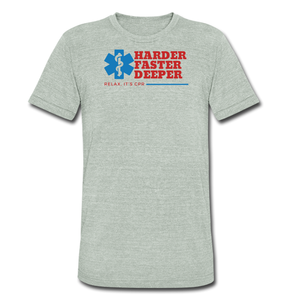 Harder Faste Deeper EMS - Tri-Blend T-Shirt - heather gray