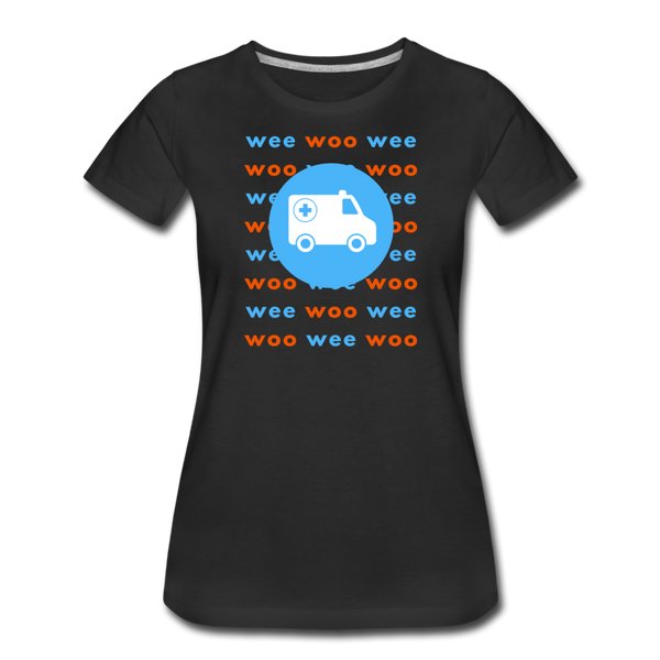 Wee Woo Ambulance - Women's Premium T-Shirt - black