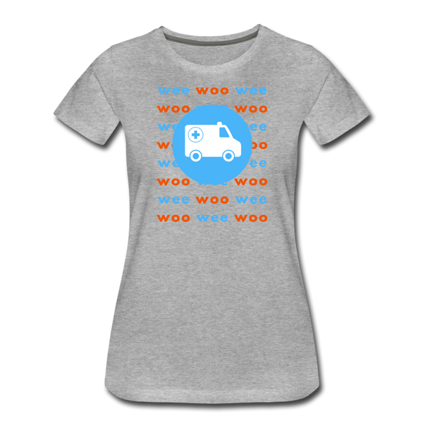 Wee Woo Ambulance - Women's Premium T-Shirt - heather gray