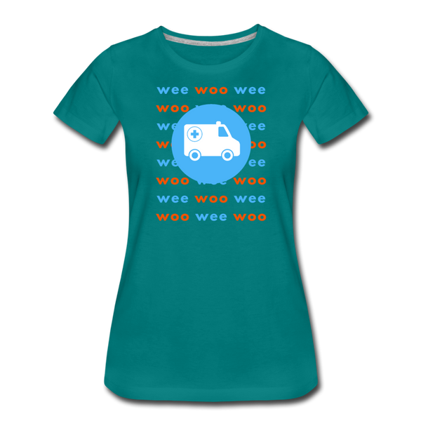 Wee Woo Ambulance - Women's Premium T-Shirt - teal
