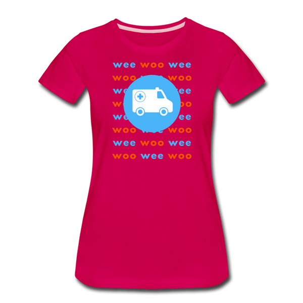 Wee Woo Ambulance - Women's Premium T-Shirt - dark pink