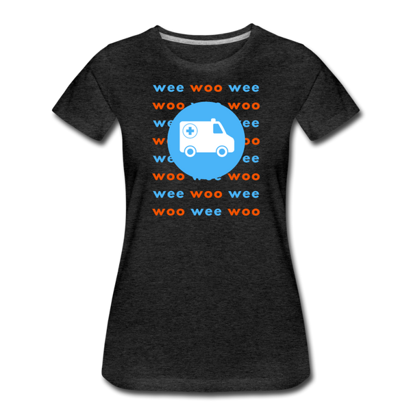 Wee Woo Ambulance - Women's Premium T-Shirt - charcoal gray