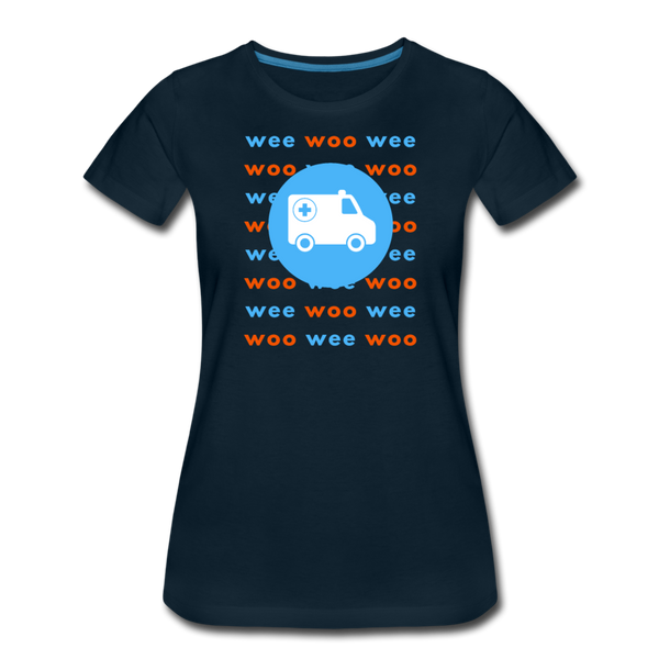 Wee Woo Ambulance - Women's Premium T-Shirt - deep navy