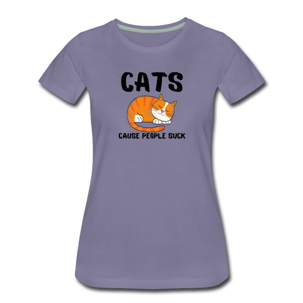 Cats, Cause People Suck - Women's Premium T-Shirt - washed violet