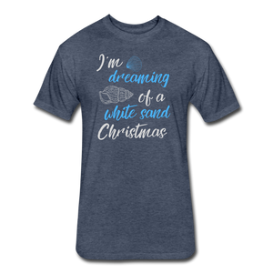White Sand Christmas - Men's Cotton/Poly T-Shirt - heather navy