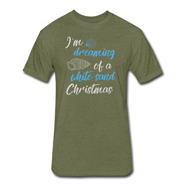 White Sand Christmas - Men's Cotton/Poly T-Shirt - heather military green