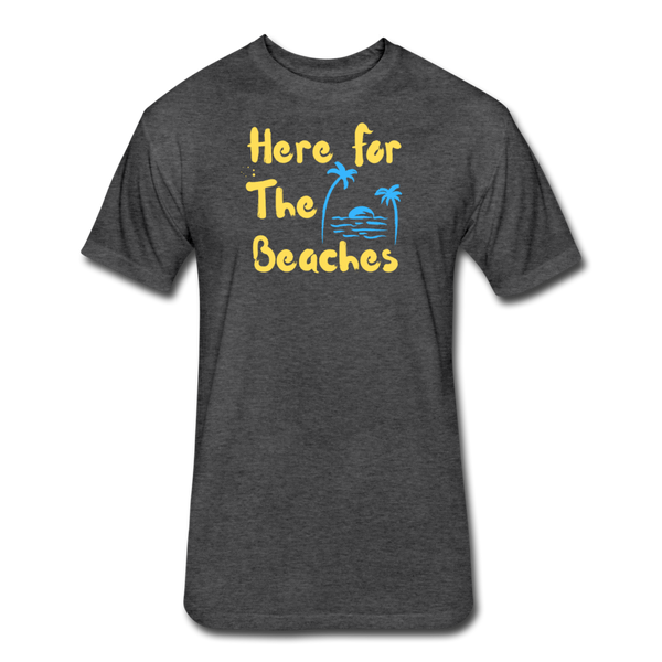 Here For The Beaches - Men's Cotton/Poly T-Shirt - heather black