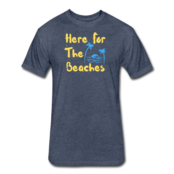Here For The Beaches - Men's Cotton/Poly T-Shirt - heather navy