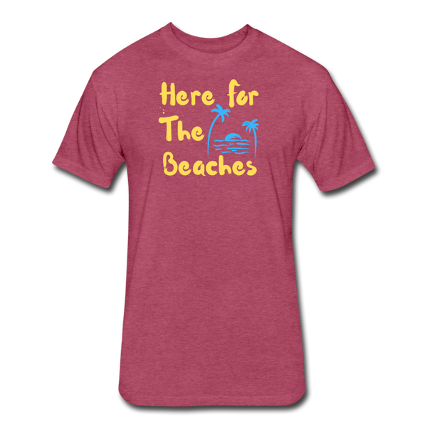 Here For The Beaches - Men's Cotton/Poly T-Shirt - heather burgundy