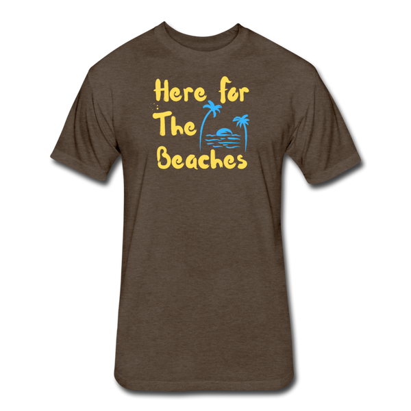 Here For The Beaches - Men's Cotton/Poly T-Shirt - heather espresso