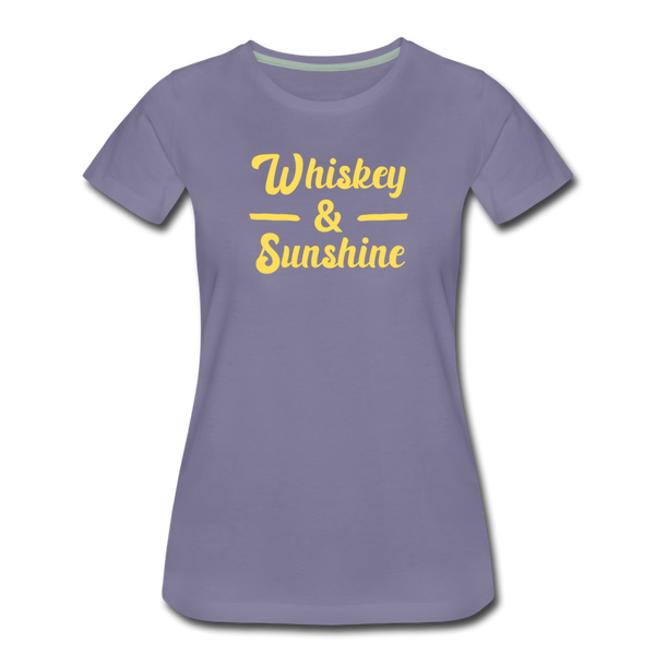 Whiskey and Sunshine Women's Premium T-Shirt - washed violet