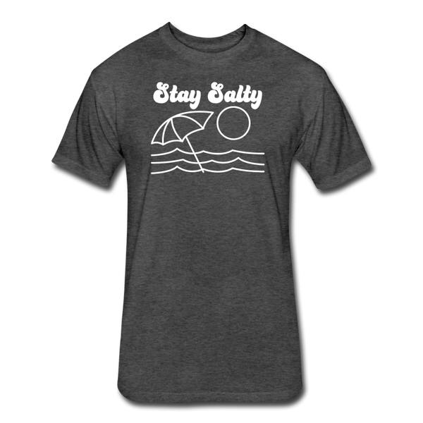 Stay Salty - Cotton/Poly T-Shirt - heather black