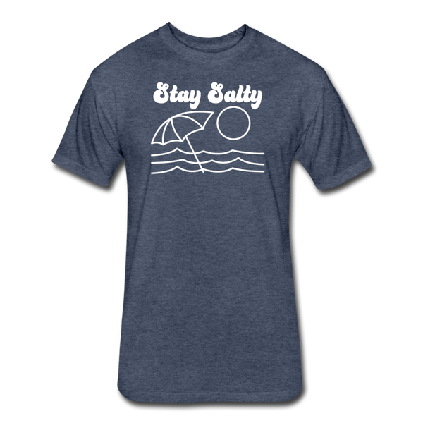 Stay Salty - Cotton/Poly T-Shirt - heather navy