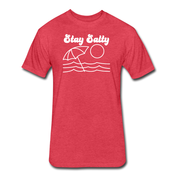 Stay Salty - Cotton/Poly T-Shirt - heather red