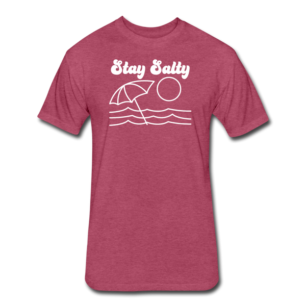 Stay Salty - Cotton/Poly T-Shirt - heather burgundy