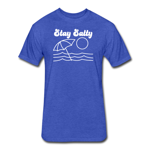 Stay Salty - Cotton/Poly T-Shirt - heather royal