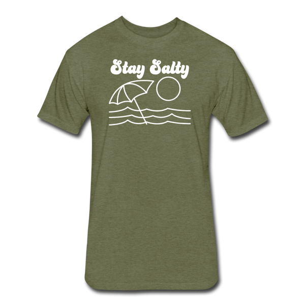 Stay Salty - Cotton/Poly T-Shirt - heather military green