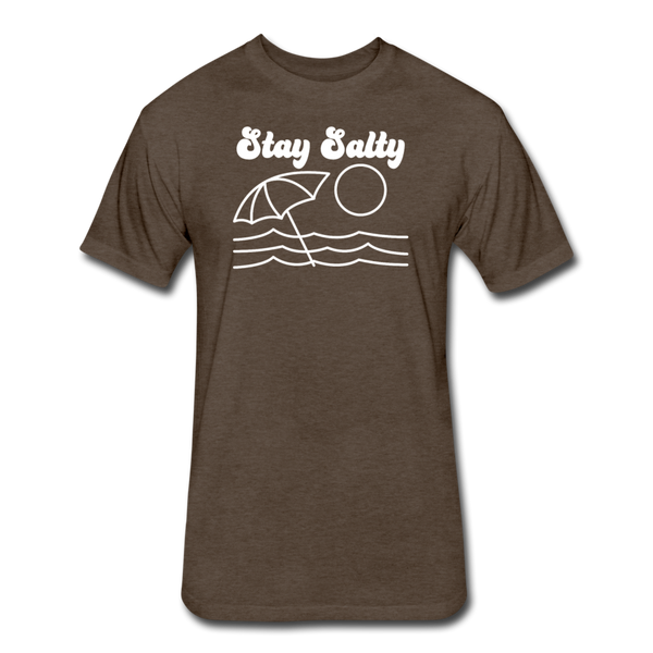 Stay Salty - Cotton/Poly T-Shirt - heather espresso