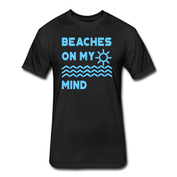 Beaches On My Mind - Men's - Cotton/Poly T-Shirt - black