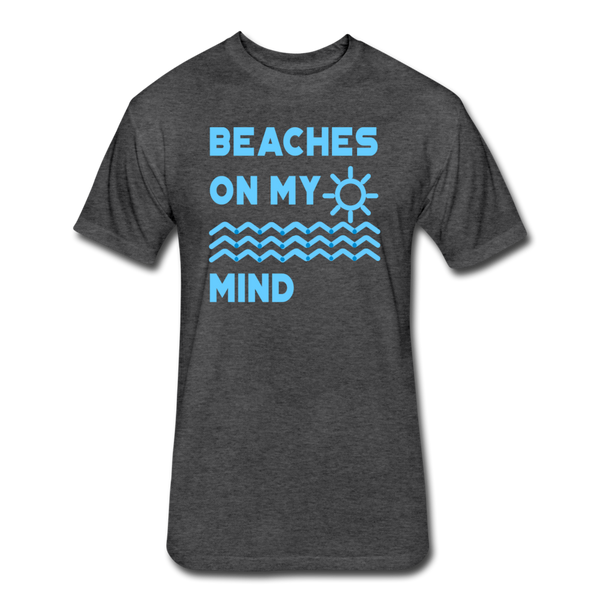Beaches On My Mind - Men's - Cotton/Poly T-Shirt - heather black