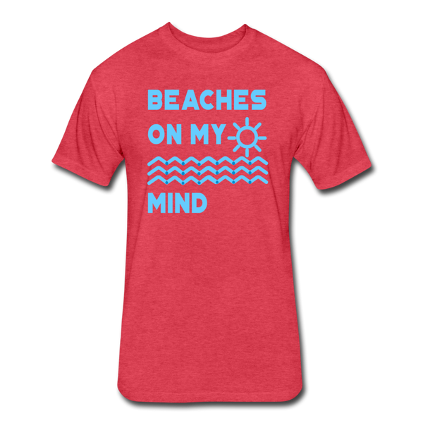 Beaches On My Mind - Men's - Cotton/Poly T-Shirt - heather red