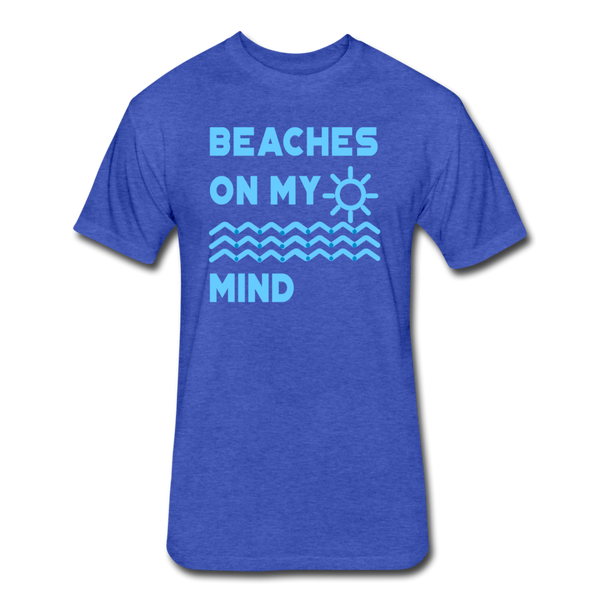 Beaches On My Mind - Men's - Cotton/Poly T-Shirt - heather royal