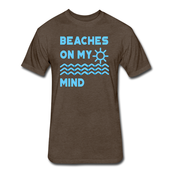 Beaches On My Mind - Men's - Cotton/Poly T-Shirt - heather espresso