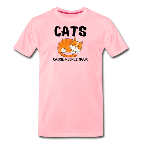 Cats Cause People Suck - Men's Premium T-Shirt - pink