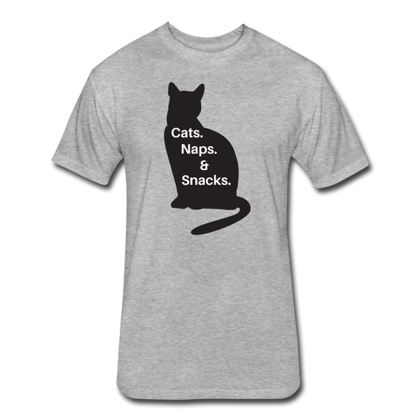Cats, Naps, Snacks - Men's Cotton/Poly T-Shirt - heather gray